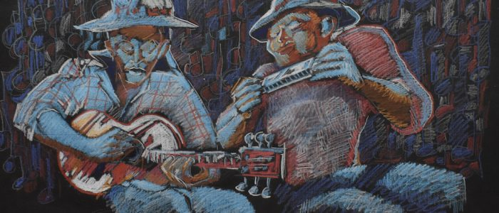 Two Musicians - Chales Chuck Siler